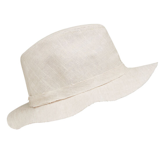Raw Edge Fedora  LIGHT BONE  hi-res