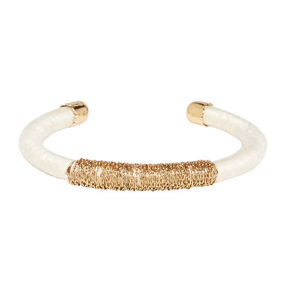 Thread and Chain Cuff  CREAM  hi-res