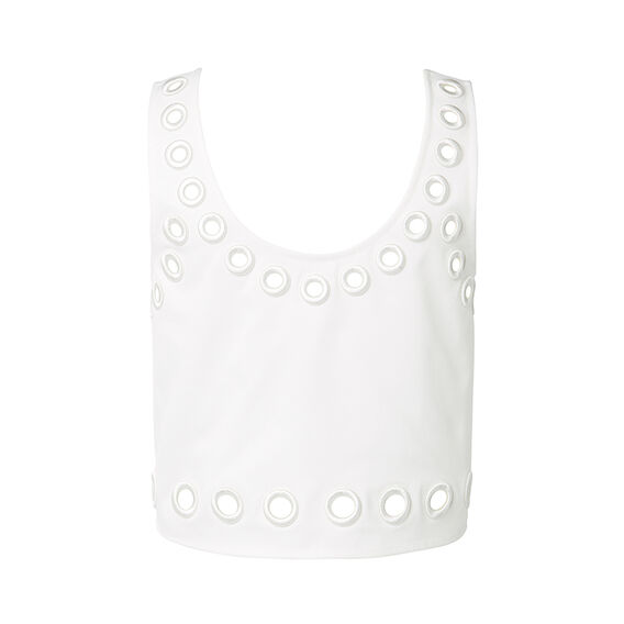 Collection Eyelet Crop Top  CREAM  hi-res