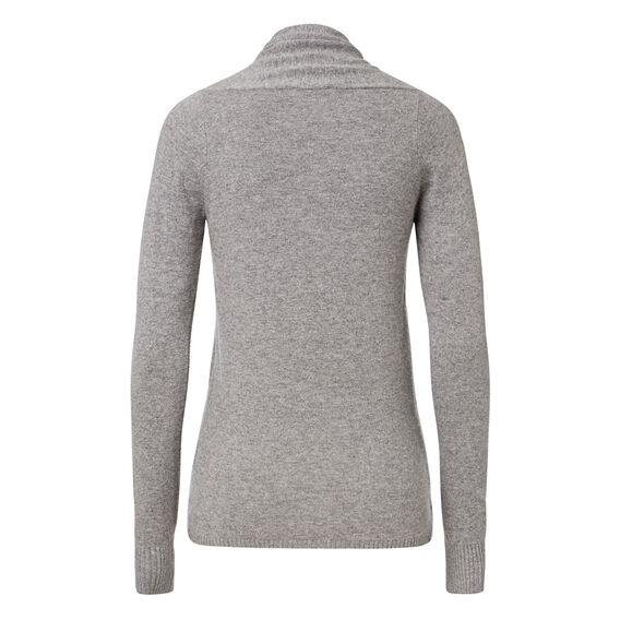 Wrap Over Knit Sweater  MID GREY MARLE  hi-res