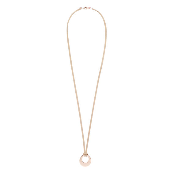 Suede Ring Necklace  ROSE GOLD  hi-res