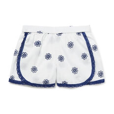 Crochet Embroidered Short  WHITE  hi-res