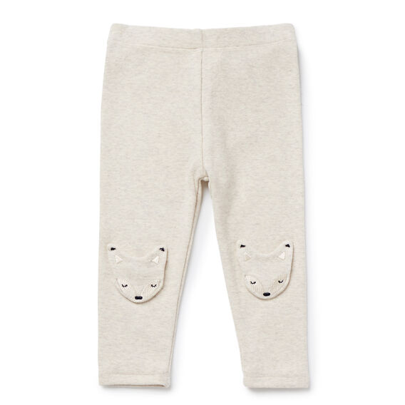 Racoon Knee Patch Legging  OATMEAL  hi-res