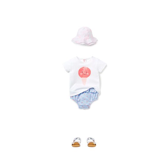 Ice-Cream Tee  WHITE  hi-res