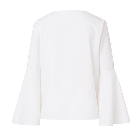Flare Sleeve Top  WHITE  hi-res