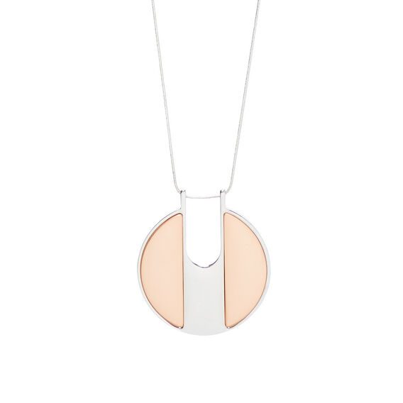 Disc Pendant Necklace  MULTI  hi-res