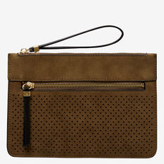 Perforated Clutch  KHAKI  hi-res
