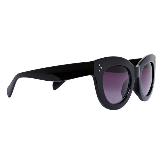 Kit Cats Eye Sunglasses  BLACK  hi-res