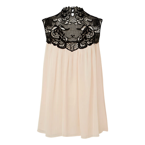 Lace Floaty Top  SHELL PINK  hi-res