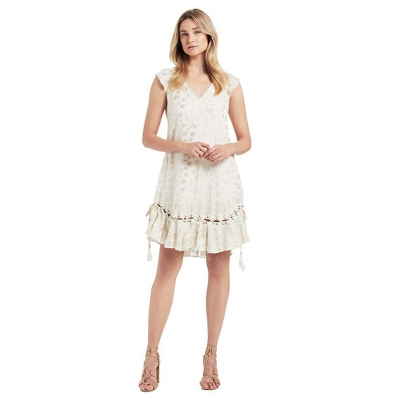 Ocelot Eyelet Tie Dress  MULTI  hi-res