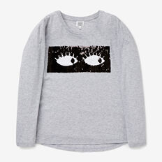 Sequin Eyes Tee  CLOUD  hi-res