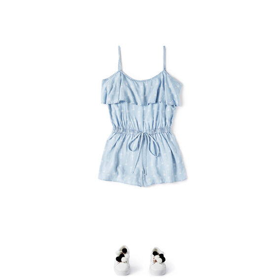 Palms Playsuit  SUNBLEACHED CHAMBRAY  hi-res
