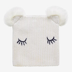Sleepy Face Beanie  CANVAS  hi-res