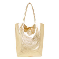 Leather Tote  GOLD  hi-res