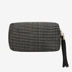 Small Cosmetic Bag  BLACK/WHITE  hi-res