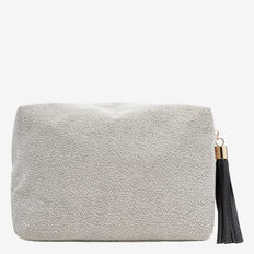 Large Cosmetic Bag  BLACK/SILVER  hi-res