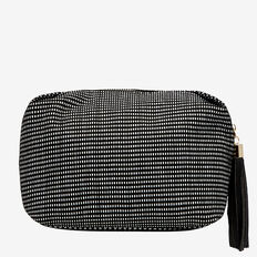 Large Cosmetic Bag  BLACK/WHITE  hi-res