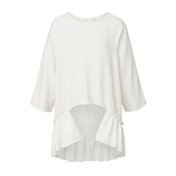 Collection Cocoon Frill Top  CREAM  hi-res