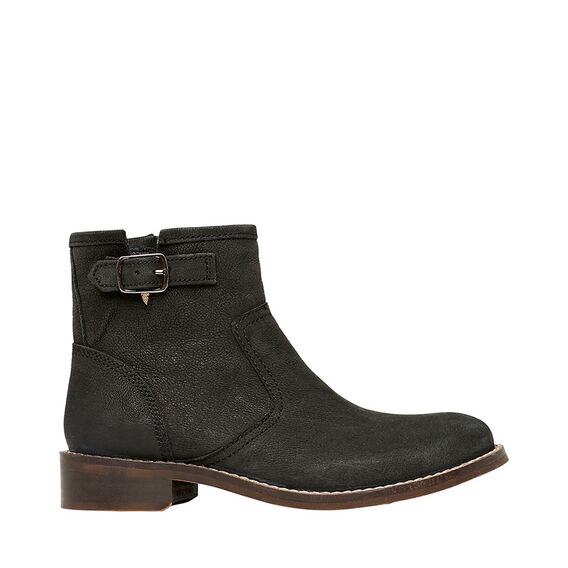 Short Leather Boot  BLACK  hi-res