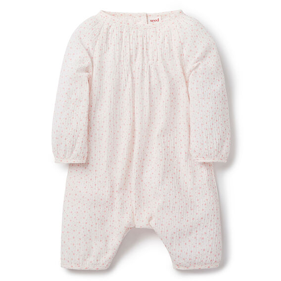 Woven Star Onesie  FADED STRAWBERRY  hi-res