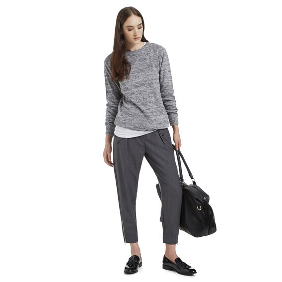 Long Sleeve Spotted Tee  LIGHT GREY MARLE  hi-res