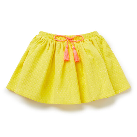 Textured Pop Trim Skirt  SUNSHINE  hi-res