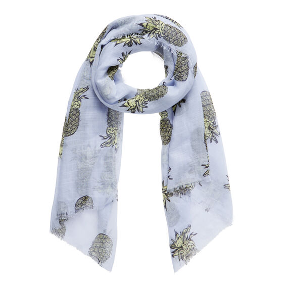Pineapple Print Scarf  ICE BLUE CHAMBRAY  hi-res