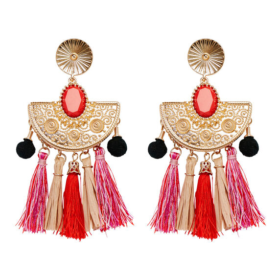 Mexicola Tassel Earrings  MULTI  hi-res