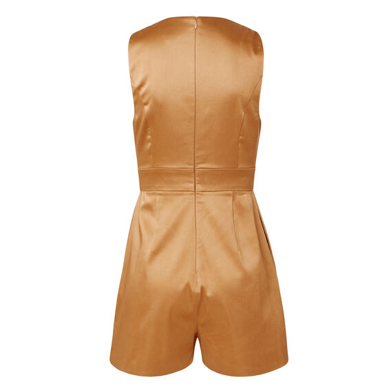 Satin Jumpsuit  BRICK  hi-res