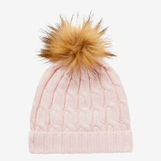 Cable Knit Beanie  SODA PINK  hi-res