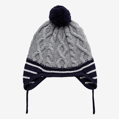 Cable Knit Beanie  MIDNIGHT BLUE  hi-res