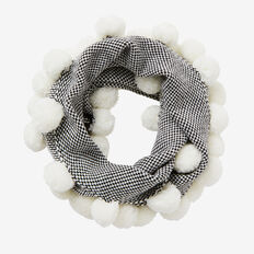 Textured Pom Pom Snood  CANVAS  hi-res