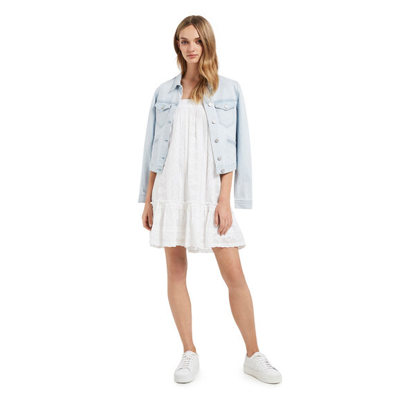 Cropped Denim Jacket  PALE BLUE DENIM  hi-res