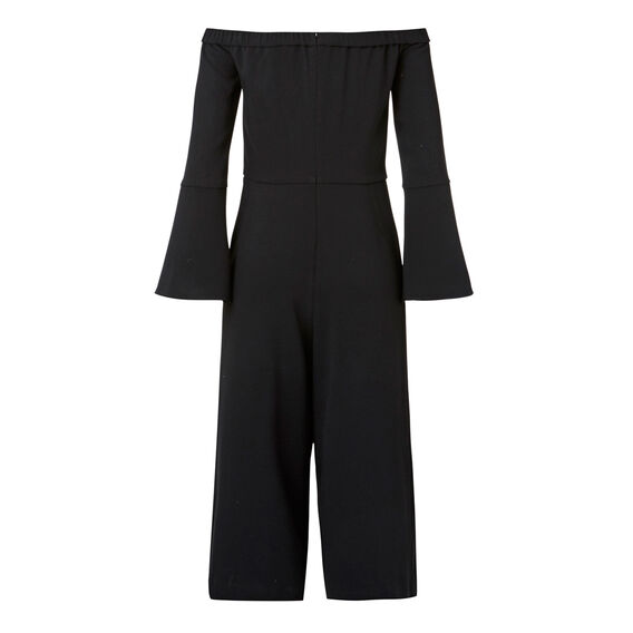 Off Shoulder Jumpsuit  BLACK  hi-res