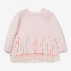Tulle Hem Party Tee  SODA PINK  hi-res