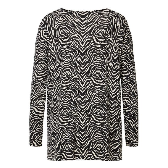 Zebra Print Sweater  STONE GREY  hi-res