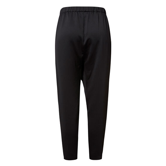 Drape Zipper Harem Pant  BLACK  hi-res