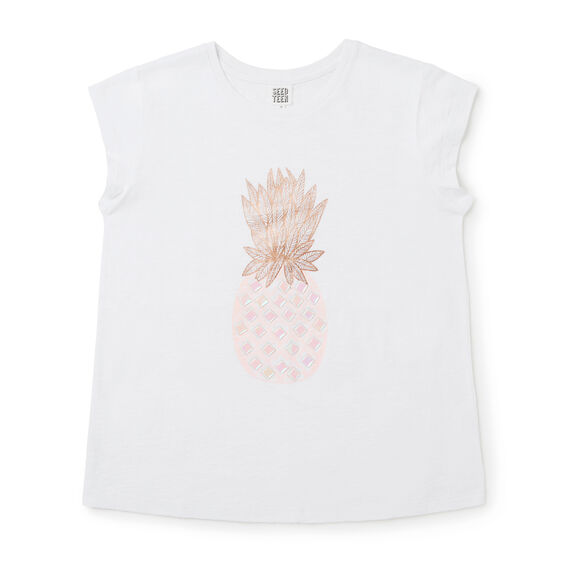 Pineapple Tee  WHITE  hi-res