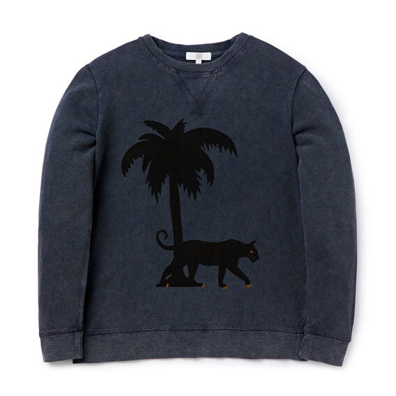 Leopard Sweater  WASHED GREY  hi-res