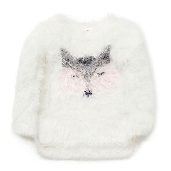 Fluffy Racoon Sweater  CANVAS  hi-res