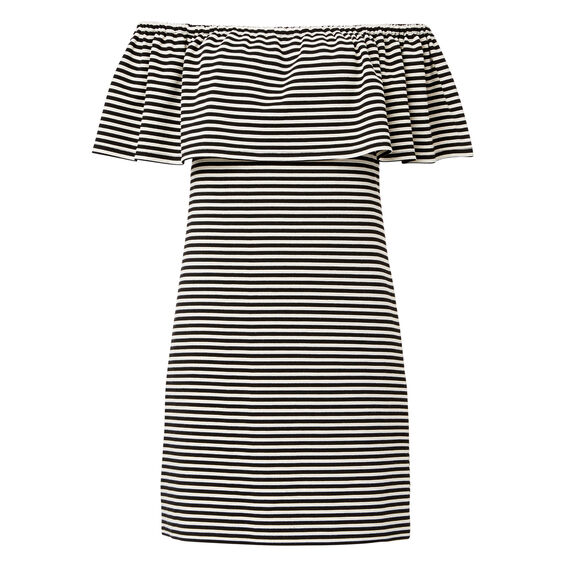 Stripe Off Shoulder Dress  STRIPE  hi-res