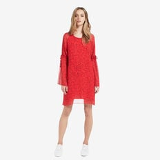 Flare Sleeve Dress  RUBY RED  hi-res