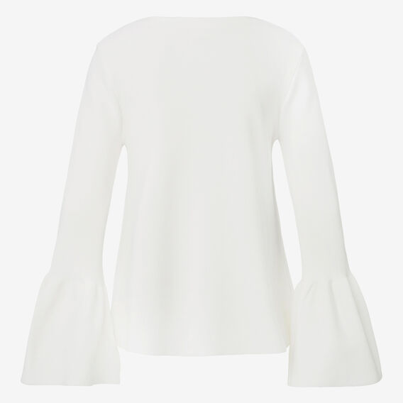Bell Sleeve Flared Knit Top  CREAM  hi-res