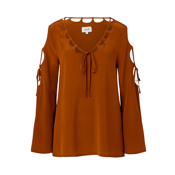 Collection Cut Out Tie Top  RUST  hi-res