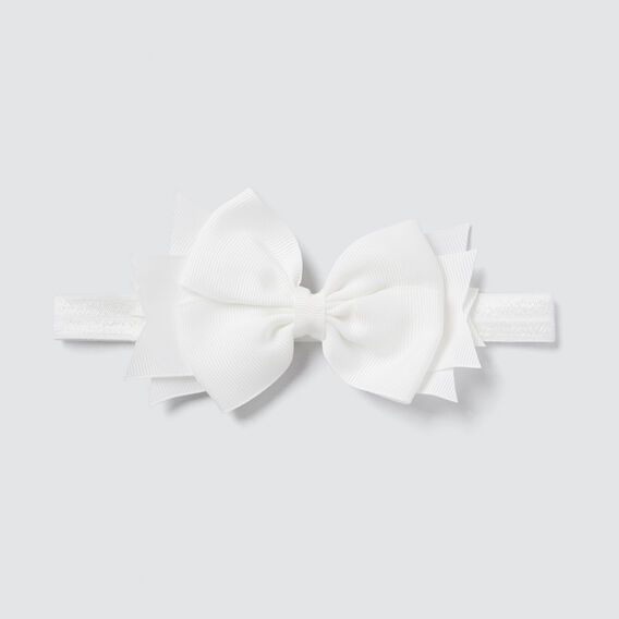 Elastic Bow Headband  WHITE  hi-res