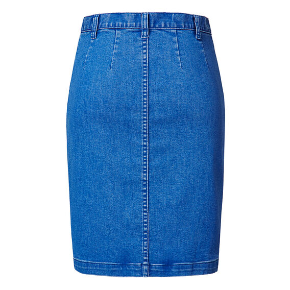 Button up Denim Skirt  BLUEBELL DENIM  hi-res