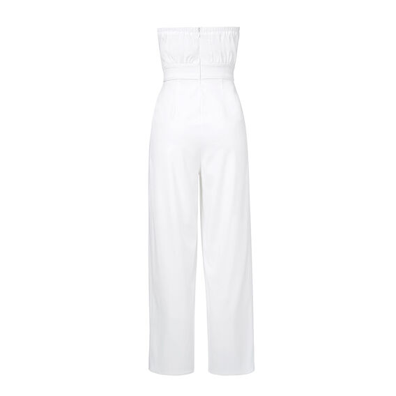 Strapless Flare Jumpsuit  WHITE  hi-res