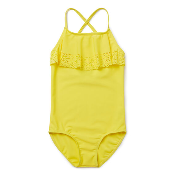 Broderie Frill Bather  PINEAPPLE  hi-res