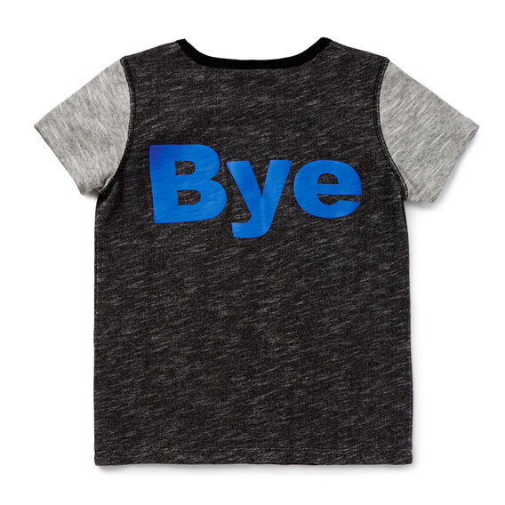 Hi Bye Tee  WASHED BLACK  hi-res