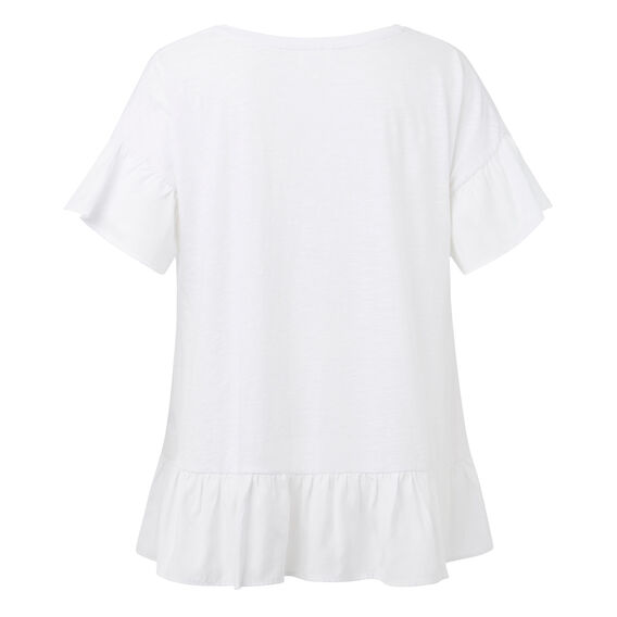 Floaty Frill Tee  WHITE  hi-res